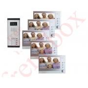 Videocitofono Condominiale fotorecorder DVR per condominio 5 monitor