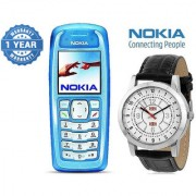 Nokia 3100 / Good Condition/ Certified Pre Owned (1 Year Warranty) with Branded Watch