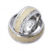 Inel argint rodiat lat model verigheta toate marimile