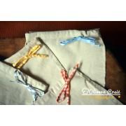 Višenamenska vrećica od sirovog platna 22x34 cm