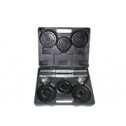 Set Gantere TOORX VAL-15DGN, 15kg, 12 discuri fonta
