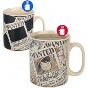 One Piece Wanted - Heat Change Mug Mok meerkleurig