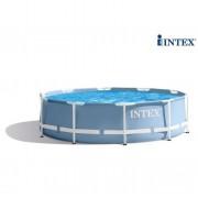 INTEX Frame Piscina Prisma Tonda 305x76cm con Pompa e Filtro Azzurro