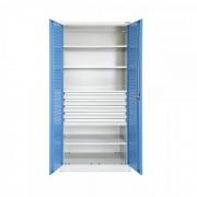 TechnoBank Kovová dílenská skříň 92 x 195 cm 5x2U modrá - ral 5012