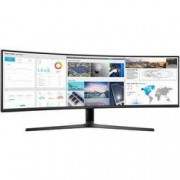 Samsung LED monitor Samsung C49J890DKU, 124.5 cm (49 palec),3840 x 1080 px 5 ms, VA LED HDMI™, DisplayPort, USB-C™, na sluchátka (jack 3,5 mm)