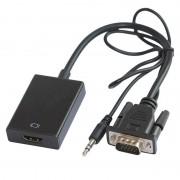 Cablu adaptor OEM VGA+ jack 3.5mm la HDMI