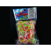 Elastice Rainbow Loom - Neon Mix Duo - 300 buc