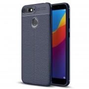 Para Huawei Honor 7a / Y6 (2018) Litchi Texture Soft TPU Protector Caso (azul Marino)