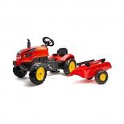 Falk X-Trac Traktor na pedale sa prikolicom Crveni (2046AB)