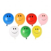 Merkloos 40x Smiley faces waterballonnen gekleurd