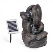Blumfeldt Felsquell Solar-Kaskadbrunn Batteridrift 2 kW Solpanel 3 LEDs