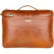 SCHARF JAMES FRAIN - CASE OF BIRTH Genuine Leather Laptop Sleeve Messenger Bag(Gold, 5 L)