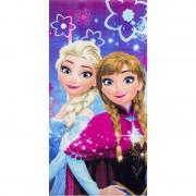 Marvel Disney Frozen badlaken/strandlaken paars/roze 70 x 140 cm