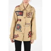 Tommy Hilfiger COLLECTION giubbotto LETTERMAN FIL COUPE con Patches Logate taglia 2