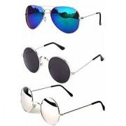 Pack of Aviator sunglass with 2 Round Sunglasses