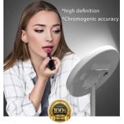 Make Up Spiegel LED - Spiegel met Ringverlichting - Spiegel met verlichting - Make Up - Spiegel - LED - Halogeen - White-Naturel-Warm licht 3 x stand - Hollywood spiegel - Ontschminken - Epileren - Wenkbrauwen- New Designe
