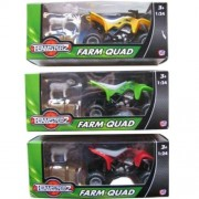 3 X New Teamsters Teamsterz Farm Quad with Sheep Bale of Hay Kids Racer Toys Scale 1:24
