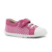 Bobux Rózsaszín mintás fehér orrú cipő - 21 (15-27 hó)