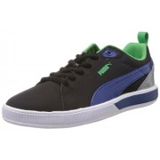 Puma Unisex Future Suede Lite Perf Jr Black, Blue and Island Green Sneakers - 2C UK
