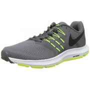 Men's Nike Run Swift Running Shoe Cool Grey/Black/Volt/White Size 8 M US