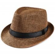 nuevo simple verano padre playa Casual marcaFlat brim Bowknot paja gorra para el sol Sombrero LANG(#Coffee)
