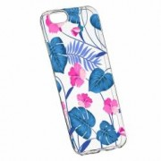 Husa Silicon Transparent Slim Tropical Blue 112 Apple iPhone 6 PLUS 6S PLUS