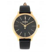 ユニセックス NIXON Clique Leather 腕時計 ブラック
