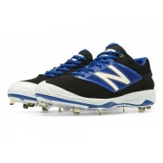 New Balance Low-Cut 4040v3 Metal Baseball Cleat Black with Blue