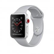 Умные часы Apple Watch Series 3 Cellular 42mm Silver Aluminum Case with Fog Sport Band MQK12 (Серебристый/Дымчатый)