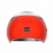 Lampa unghii UV LED Sun6s rosu 48w, profesionala, senzor automat, afisaj, timer