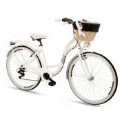 """Damski Rower Miejski Goetze Alice Rama 18"""" Koła 28"""" Biały 2020"""
