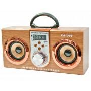 Hordozható hangszóró Bluetooth multimédia lejátszó Led világítás akkumulátorral Mp3,FM-Rádió, 3,5 jack, USB, Micro SD kártya - KA-D06