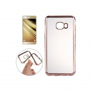 Para Samsung Galaxy A5 (2016) / A510 Galvanotecnia Transparente Suave Tpu Protector Caso (Dorado Rosa)