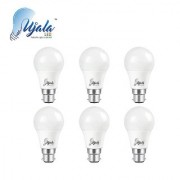 Ujala Led 12W High Beam Bulb - 120 Lumen/Watt B22 Base (Aluminium) PC Diffuser 2Year Warranty (Pack of 6)