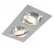 QAZQA Spot à encastrer Lock 2 aluminium