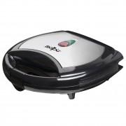 Тостер за сандвичи - вафла SAPIR SP 1442 AK, 750W, Незалепващи плочи, Черен/инокс