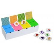 Joc de sortare Cutia magica, 60 cartonase, 12 carduri cu categorii