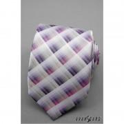Kostkovaná kravata růžová, fialová Avantgard 559-1292-1