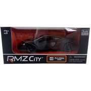 RMZ City Die Cast Black McLaren 650S Scaled Model Car - Features Opening Doors