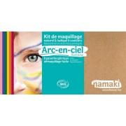 NAMAKI Kit maquillage bio 8 couleurs - Arc-en-Ciel