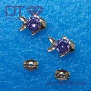 Fish Violet bedugós fülbevaló