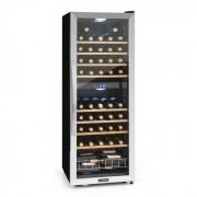 Vinamour 54D Garrafeira Refrigerada p/Vinho 2 Zonas 148L 54 Garrafas Aço Inox