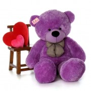 Cute Big 6 Feet Purple Bow Teddy Bear Soft Toy 180 cm