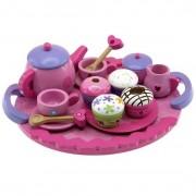 Barbo Toys - Smurfarna Tea-Servis I Trä