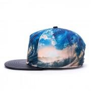 tendencia hip hop 3D sombrero de transferencia termica casquillo de surf plana - multicolor