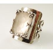 Inel argint R2989 - cuart roz (MASURI IN STOC ⤵: 54 mm circumferinta sau 17,2 mm diametru interior, Piatra: cuart roz, Categorie: inele)