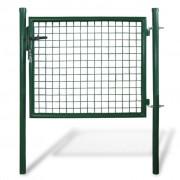 vidaXL Záhradná bránka do pletivového plota, 85,5 x 75 cm / 100 x 125 cm