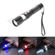 Xanes MT01 T6 Red Blue Signal Light USB Rechargeable LED Flashlight Camping Lamp Fishing Hunting Light