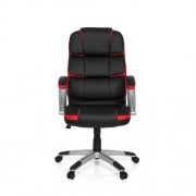 MyBuero GAMING PRO BY 100 - Fauteuil Gamer Buerostuhl24 rouge simili cuir