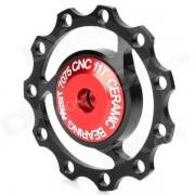 AEST aluminio Bike 7075 11T Cambio Trasero Polea - Negro + Rojo